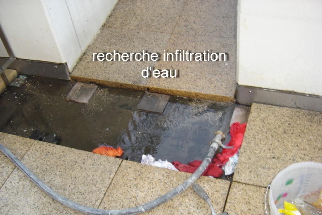 Infiltration d'eau : recherche de la faille